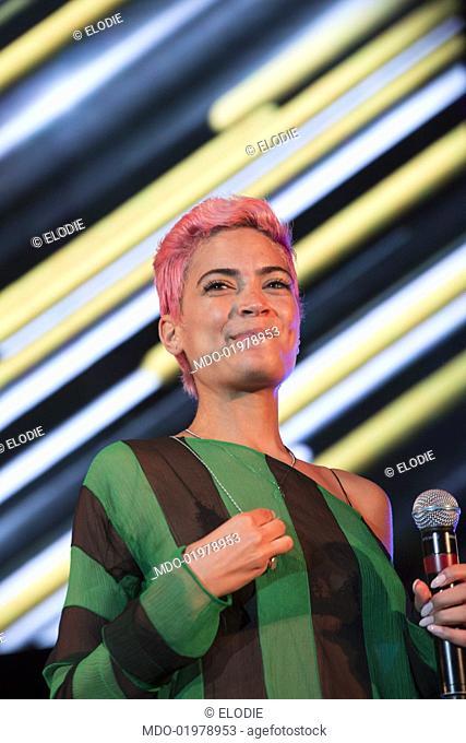 "Italian singer Elodie performs at """"Radio Bruno Estate 2017"""". Modena, July 25th, 2017"