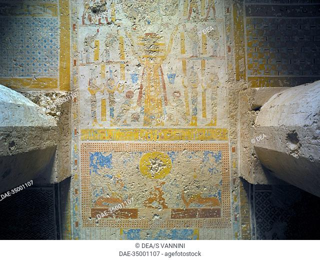 Egypt, Thebes (UNESCO World Heritage List, 1979) - Luxor. Sheikh 'Abd al-Qurna. Tomb of temple scribes supervisor at Amon's estate Imyseba (former royal granary...