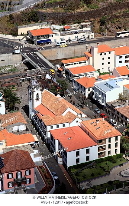 View from Above at Coastal Town, Ribeira Brava, Madeira, Portugal