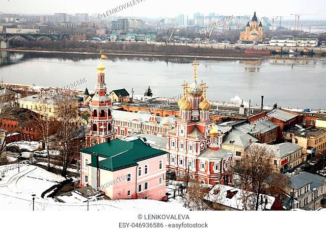 Famous christian churches in Nizhny Novgorod Russia