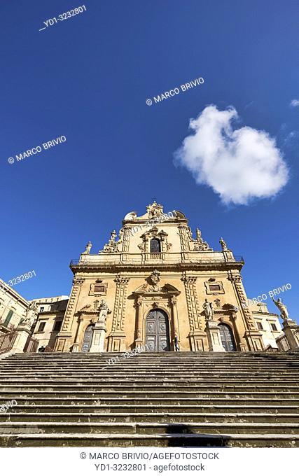 Chiesa di San Pietro Church. Modica Sicily Italy