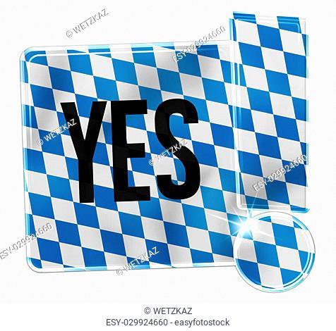 Oktoberfest Bavaria Button Icon Design