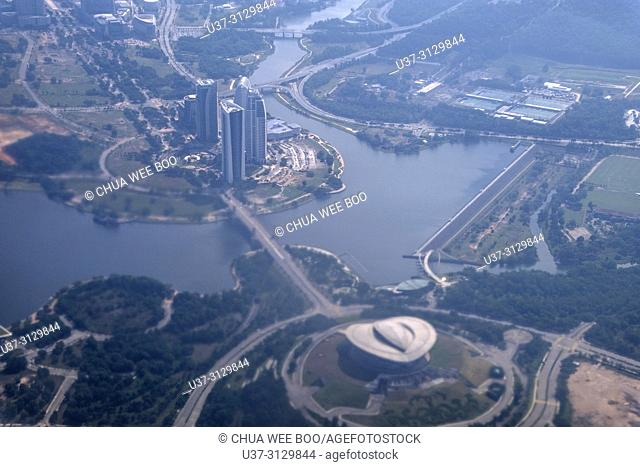 Kuala Lumpur, Malaysia, view from an airplane