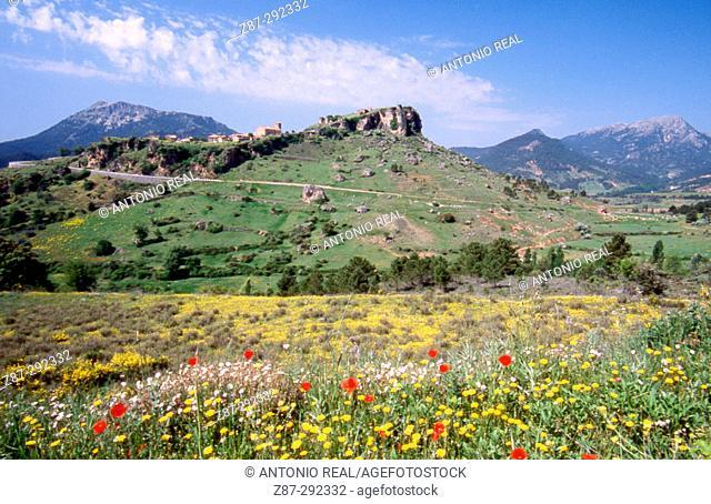 Old village of Riopar and Sierra de Segura mountains. Albacete province, Spain