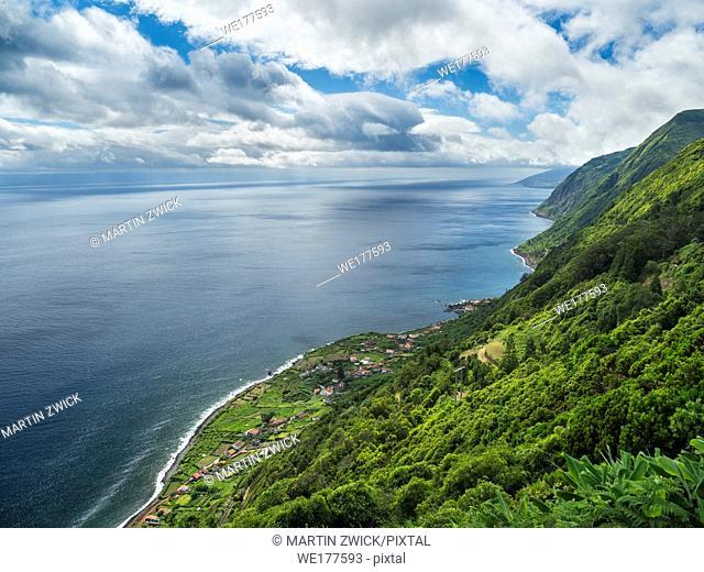 Faja de Sao Joao. Sao Jorge Island, an island in the Azores (Ilhas dos Acores) in the Atlantic ocean. The Azores are an autonomous region of Portugal