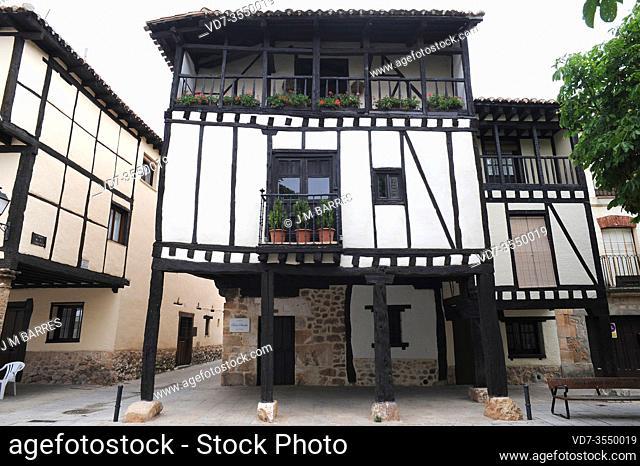 Covarrubias, traditional house (Casa de Doña Sancha, 15th century). Burgos province, Castilla y Leon, Spain