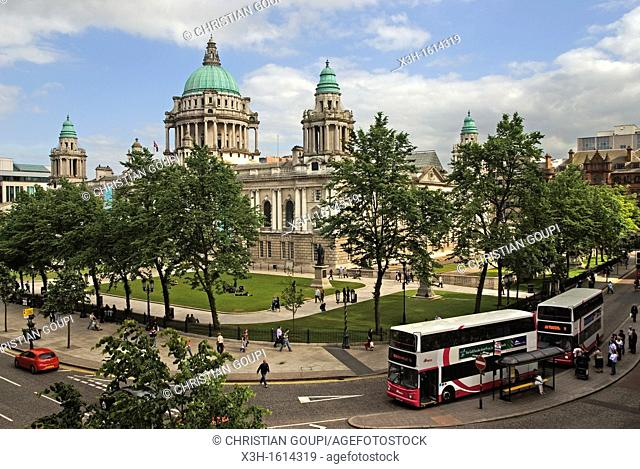City Hall in Donegall Square, Belfast, County Antrim, Northern Ireland, United Kingdom, Western Europe