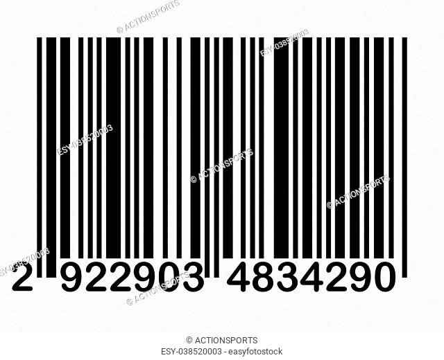 A standard barcode against a white background