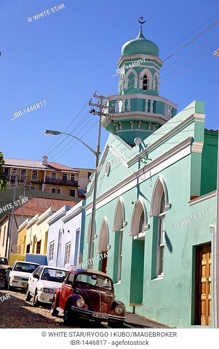 Bo-Kaap, colorful houses in the Malay quarter, mosque, Cape Town, Western Cape, South Africa, Africa