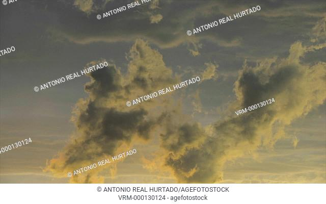 Clouds at sunset. Almansa. Albacete province. Spain