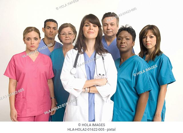 Group portrait of doctor and nurses