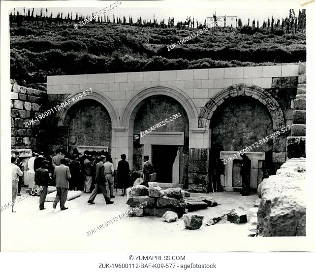 1955 - Ancient Relics discovered at Excavations of Beit Shrearim in the Lower Galilee; Beit Shearim, situated West of Nazareth in the Lower Galilee was one of...