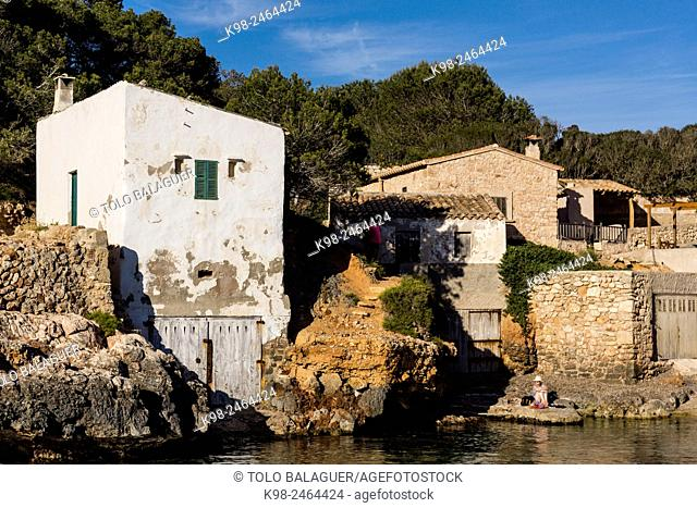 Cala s'Almunia, Santanyí, Majorca, Balearic Islands, Spain