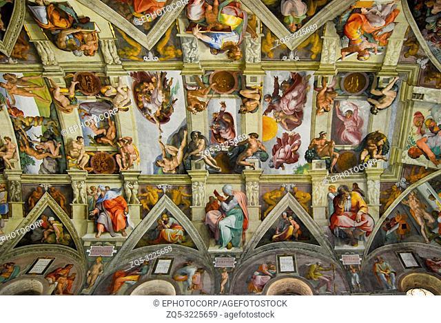 Sistine Chapel, ceiling, Vatican city, Italy