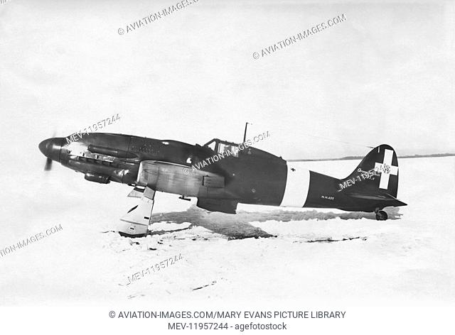 Italian Airforce Aermacchi C-205N Orione Parked on Snow