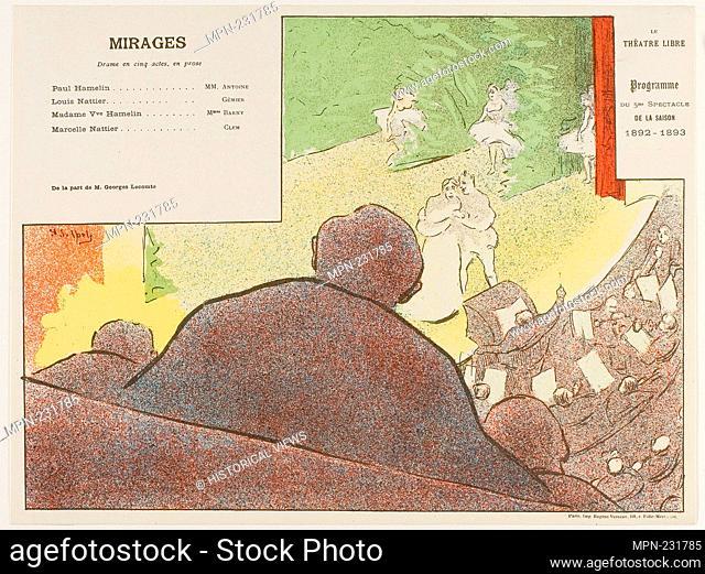 Fifth Performance: Mirages, for Le Théatre Libre - 1892–93 - Henri-Gabriel Ibels (French, 1867-1936) printed by Imprimerie Eugène Verneau (French