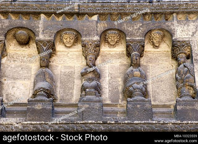 Detail from Schottenportal, Schottenkirche St. jakob, Regensburg, Upper Palatinate, Bavaria, Germany
