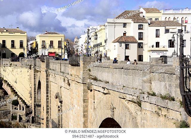 New bridge of Ronda, Malaga, Andalusia, Spain