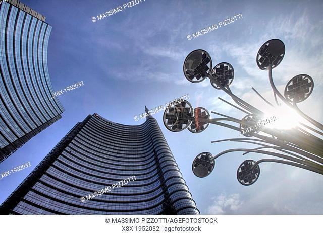 Modern skyscrapers at Porta Nuova, Milan, Italy