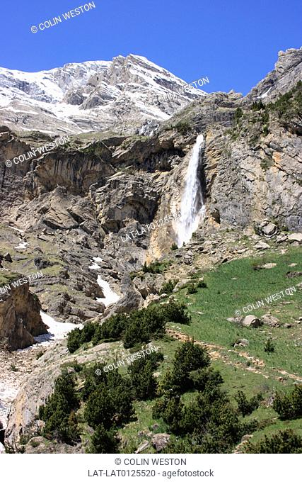 The Valle de Pineta is a glacial valley and cirque or natural bowl in the mountain landscape of the Hautes Pyrenees, near Bielsa