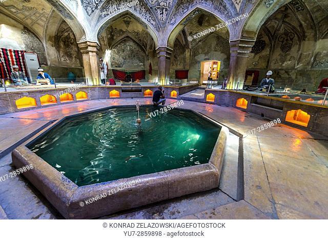 Main hall of old public baths called Vakil Bath in Shiraz city, capital of Fars Province in Iran