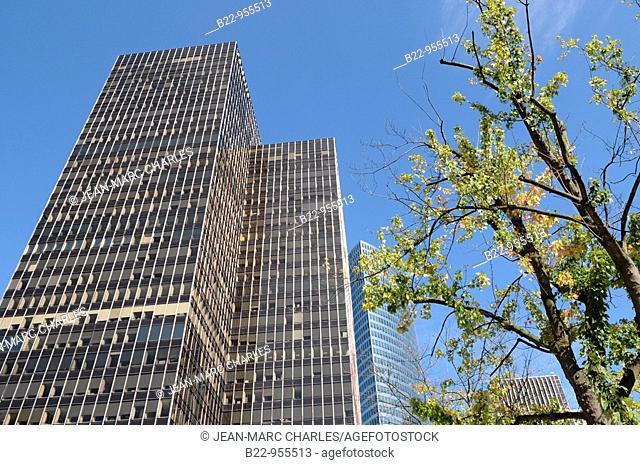 Buildings in La Defense business district, Paris, France