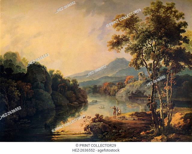 'Llanberis Lake and Dolbardarn Castle', 1766, (1938). Artist: Richard Wilson