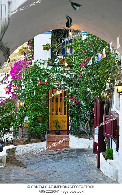 Old City Gate, Mojacar, Almeria province, Andalucia, Spain
