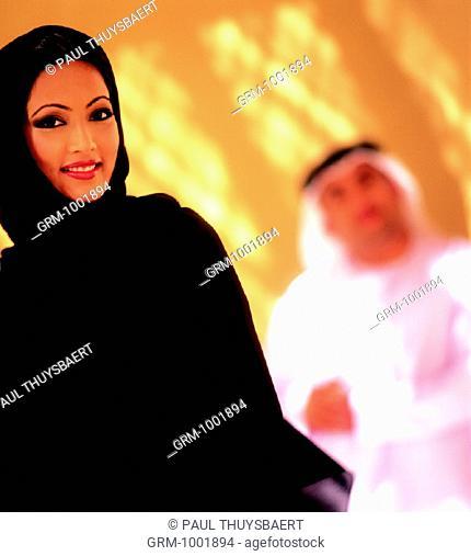 Smiling Arab woman