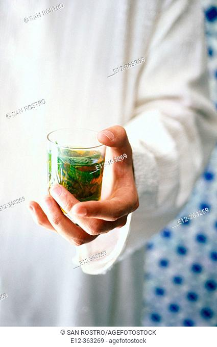 Tea. Riad Maison Bleue. Fes. Morocco