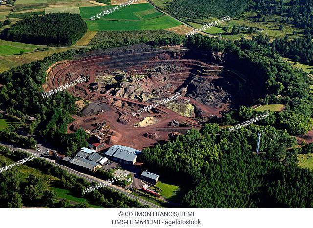 France, Puy de Dome, Parc Naturel Regional des Volcans d'Auvergne Regional Nature Park of the Volcanoes of Auvergne, Chaine des Puys, Saint Ours les Roches