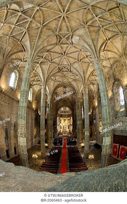 Church of Santa Maria, Mosteiro dos Jéronimos, Monastery of the Hieronymites, Unesco World Heritage Site, Belem district, Lisbon, Portugal, Europe