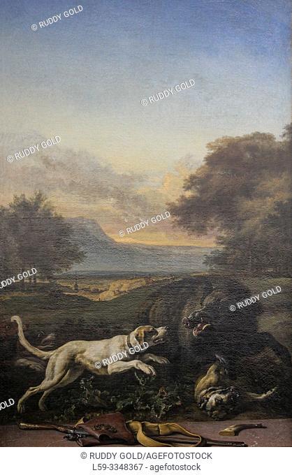 """""""Boar Hunt"""", 1703/16, by Jan Weenix (1640-1719)"""
