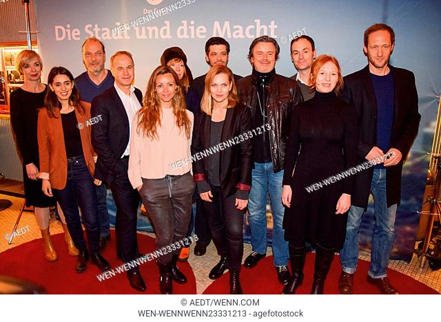 Celebrities attend the special premiere screening of the television mini series 'Die Stadt und die Macht' at Astor Lounge Featuring: Anna Loos, Friedemann Fromm