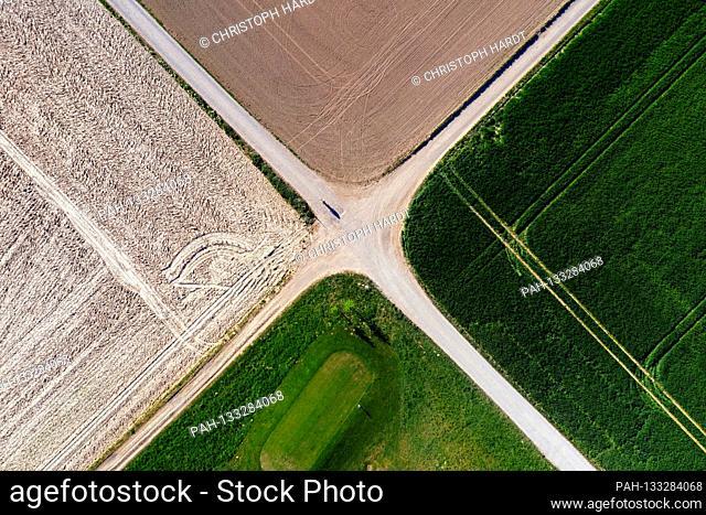 Golf course 'Golfcity Koln Pulheim' with surrounding fields near Konigsdorf. Pulheim, June 20, 2020   usage worldwide. - Pulheim/Nordrhein-Westfalen/Deutschland
