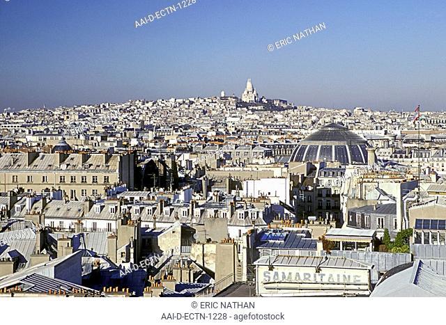 Paris skyline and the Sacre Coeur, France