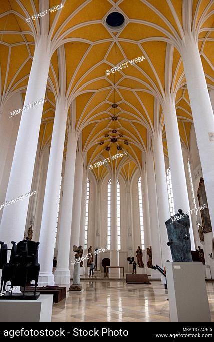 Spitalkirche Helig-Geist, Heiliggeistkirche, inside, Landshut, Lower Bavaria, Bavaria, Germany