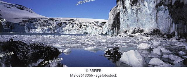 Iceland, glaciers Vatnajökull, sea