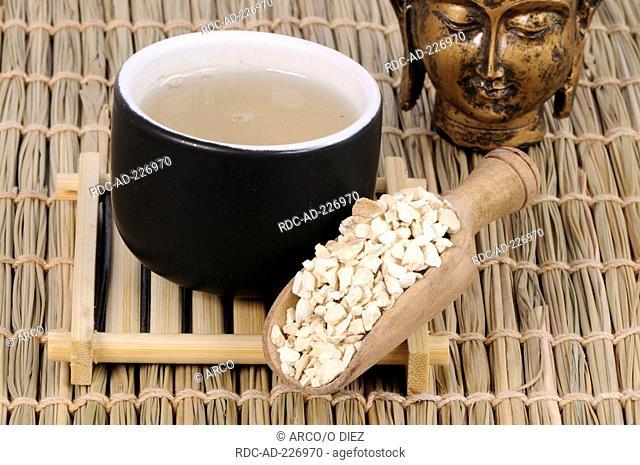 Cup of Dahurian Angelica tea, Angelicae dahuricae Radix, Bai Zhi