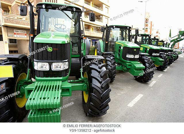 Exhibition of Tractors in Mollerussa  LLeida  Spain