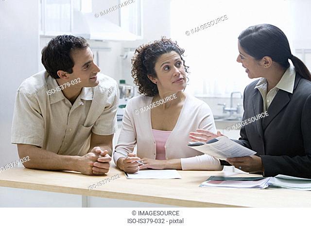 Financial advisor with couple