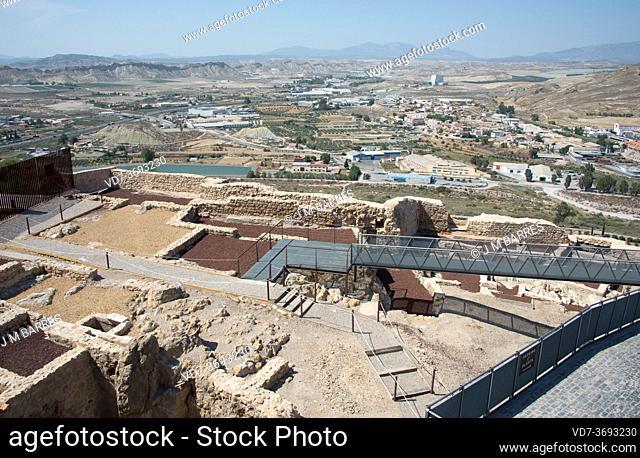 Lorca, castle archaeological excavations (9-15th centuries). Murcia, Spain