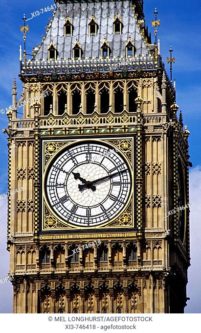 Big Ben, St Stephen's Tower, Houses of Parliament, Westminster, London, England