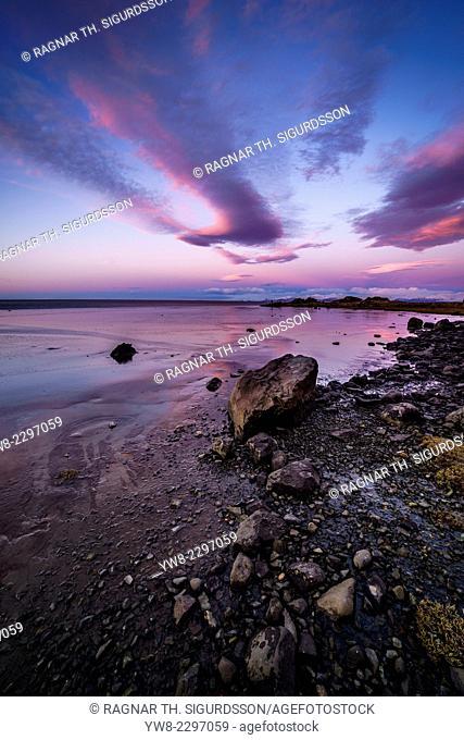 Shoreline at Stokksnes, Hornafjordur, Eastern Iceland