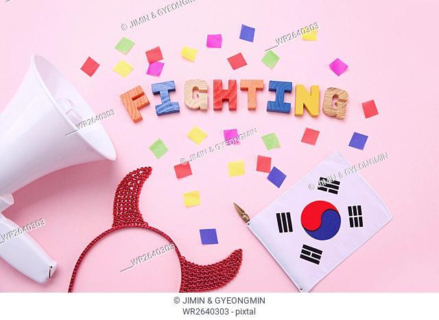 Cheering for Korean team