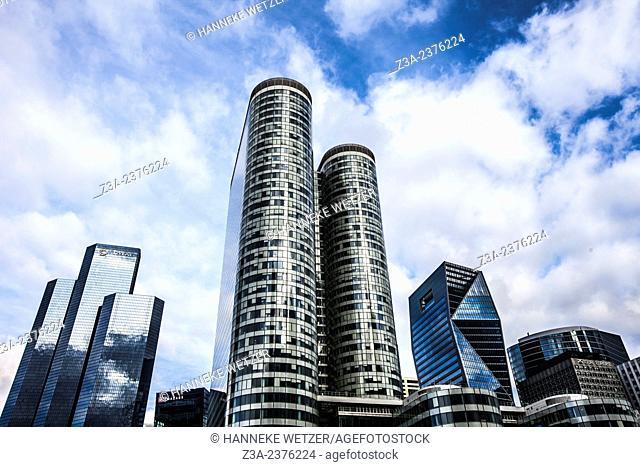 Skyscrapers at Paris-La Défense, France. at Paris-La Défense, France