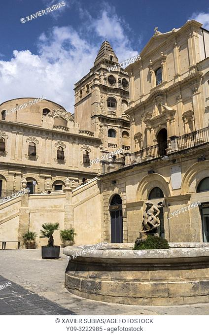 Church of San Francesco all'Immacolata and Monastery of Santissimo Salvatore, Noto, Siracusa, Sicily, Italy