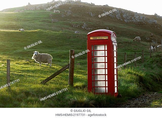 United Kingdom, Scotland, Shetland islands, north of Mainland island, Northmavine region, view on cliffs from Eshaness Lighthouse