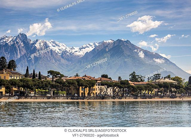 Italy, Lombardy, Lake Como, Northern branch of Lake Como and the town of Gravedona