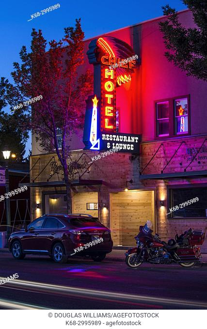 Chief hotel and restaurant in Cascade, Idaho, USA